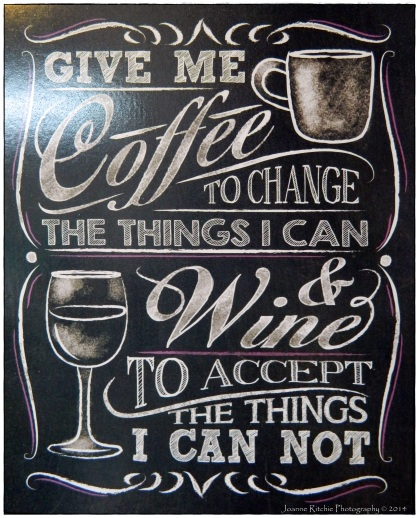 Coffee and Wine - what else do you need