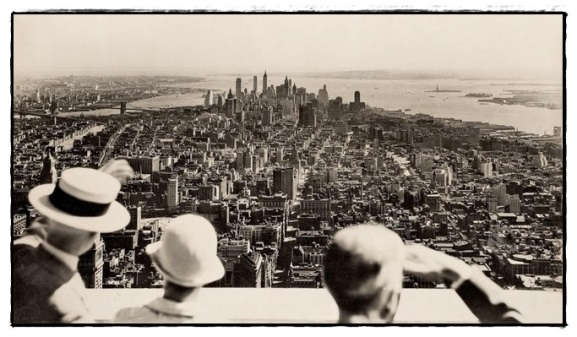 View from the Empire State Building on opening day1931!