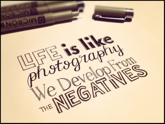 Developing from negatives!