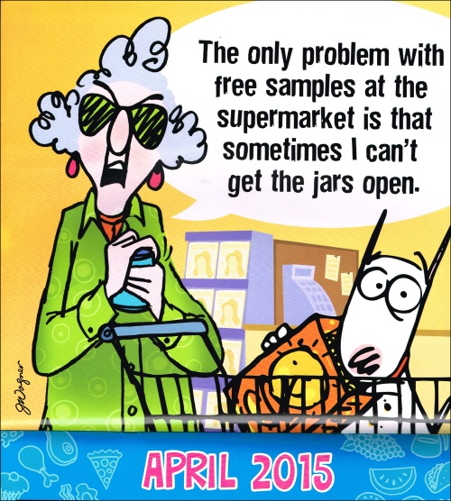 Maxine says... April Fool!