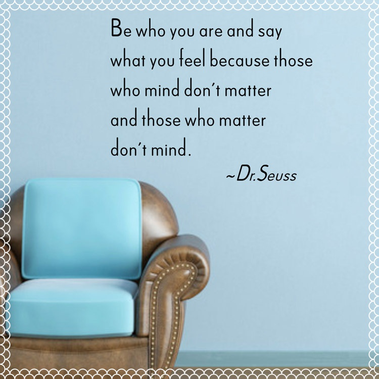 be who you are