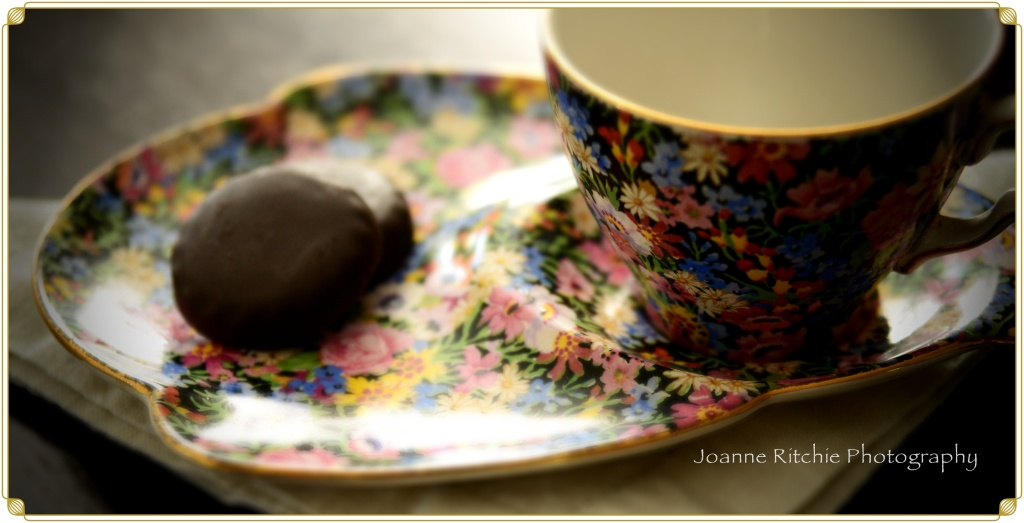 Old Fashioned Cup and Saucer