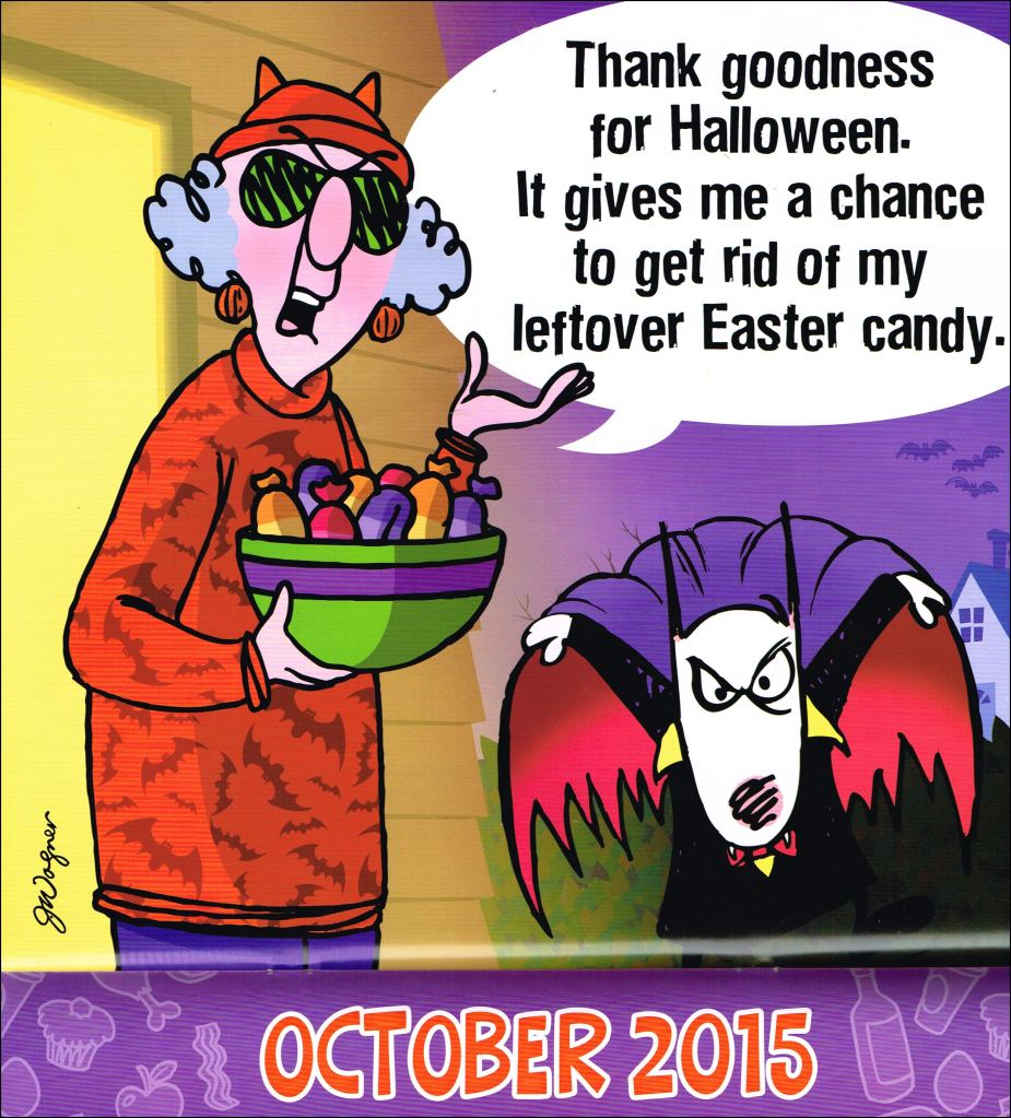 Maxine - wishing a happy first of October!